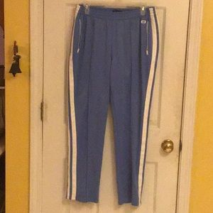 Blue White Track Active Pants